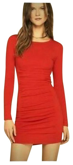 Express Red Women's Long Sleeve Mid-length Cocktail Dress Size 12 (L) Express Red Women's Long Sleeve Mid-length Cocktail Dress Size 12 (L) Image 1
