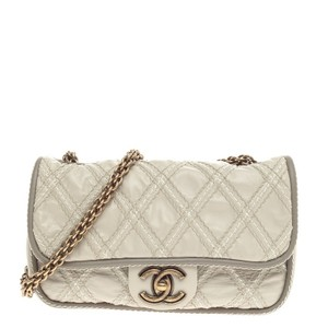 Chanel Leather Beige Clutch