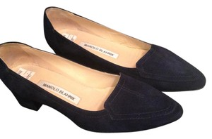 Manolo Blahnik Loeffers navy blue Flats
