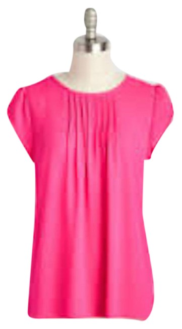 Item - Hot Pink Charmer In Charge Blouse Size 8 (M)