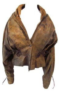 Unbranded Leather Brown Leather Jacket