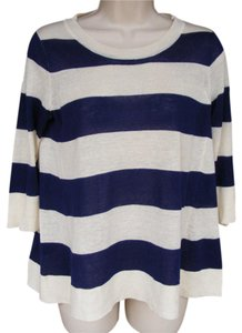 J.Crew Sailor Thin Silk Linen Sweater