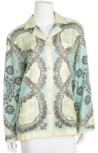Valentino Button Down Shirt Yellow & blue
