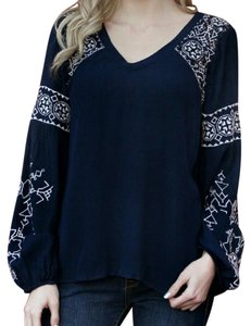 Francesca's Top Navy