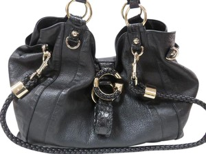 Gucci Leather G Wave Braided Hobo Bag