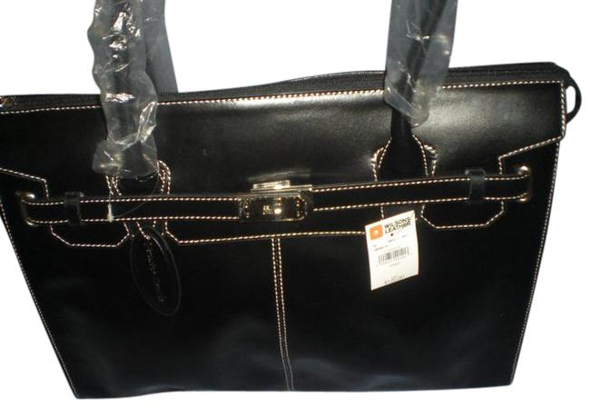 Item - Briefcase Black Leather Messenger Bag