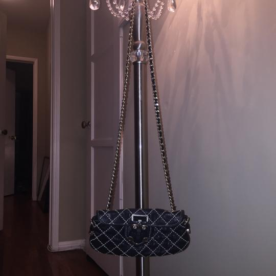 Juicy Couture Leather Clutch Chain Strap Cross Body Bag