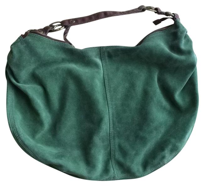 Lucky Brand Greem Sueda Hobo Bag Lucky Brand Greem Sueda Hobo Bag Image 1
