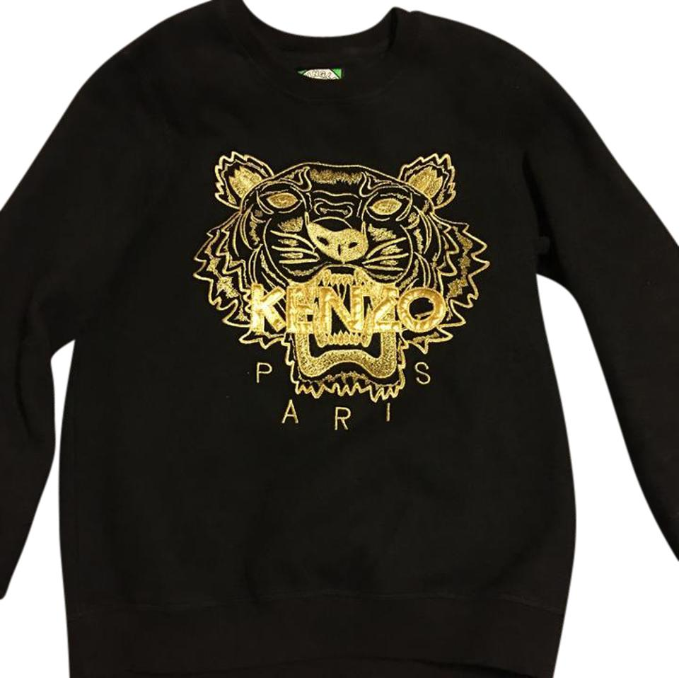 42c4135f Kenzo Black and Gold Classic Tiger Sweatshirt/Hoodie Size 8 (M ...