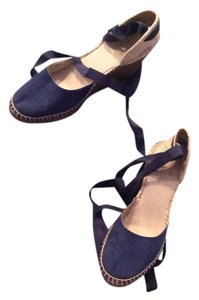 Brooks Brothers Navy Blue Wedges