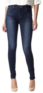 7 For All Mankind High Waist Skinny Jeans-Dark Rinse