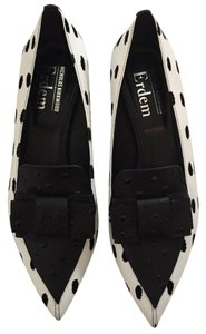 Nicholas Kirkwood black and white Flats