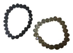 Anna's Art Beautiful Black or Clear Crystals Bracelet