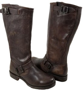 Frye Style #77609 Leather Leather Dark Brown Rugged Boots