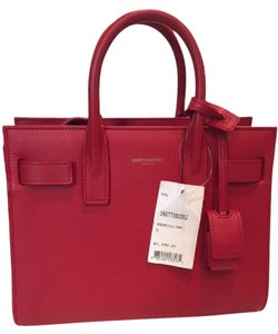 Saint Laurent Brand New With Tags Ysl Sacdejour Minibag Satchel in Red