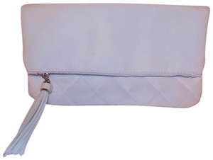 TIGI Tassels Quilted Classic Casual Exclusive White Clutch