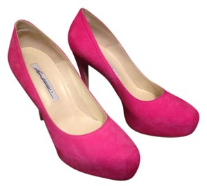 Brian Atwood Suede Women Pumps pink Platforms