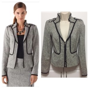 White House | Black Market Black and Grey Blazer