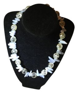 Anna's Art Beautiful Moonstone, Crystals Necklace