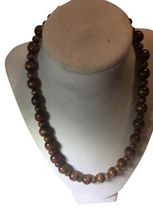 Anna's Art Wood Pearl Necklace