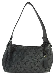 Gucci Leather Gg Tote Black Shoulder Bag