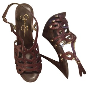 Jessica Simpson Stilleto Pump Brown Platforms