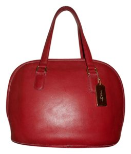 Coach Vintage Leather Satchel in Red