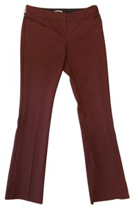 Express Petite Red Columnist Trouser Pants Maroon
