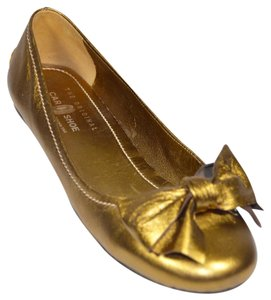 The Original Car Shoe Ballerina Ballet Metallic Gold Flats