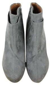 Zara Suede Ankle Gray Boots