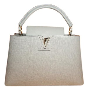 Louis Vuitton Capucines Leather Lv Capucines Color Tote in Galet