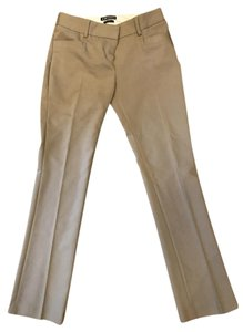 Express Columnist Stretchy Work Trouser Pants Beige