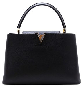 Louis Vuitton Gm Capucines Satchel Tote in Black