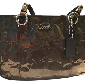 Coach Satchel in brownish grey