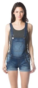 Jeans Colony 62% Cotton 36% Polyester Shortalls Shorts Blue (Dark Pott)