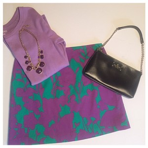 Elie Tahari Mini Skirt Purple and Green