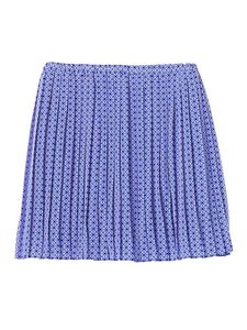 Banana Republic Pleated Mini Chic Polyester Skirt Blue Geo