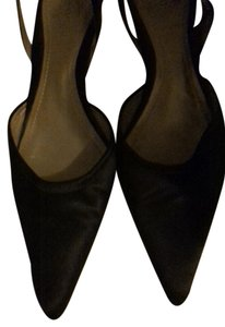Ann Taylor Kitten Heel Prom Wedding Chocolate Brown Satin Mules
