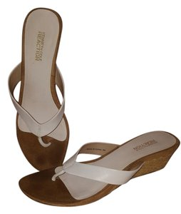 Kenneth Cole Leather Classic Signature Boho Comfortable White Sandals