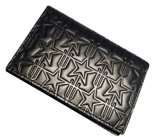 Givenchy Embossed Leather Trident Star card wallet