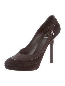 Dior Christian Suede High Heels 9 Black Pumps