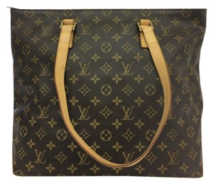Louis Vuitton Lv Monogram Cabas Mezzo Canvas Shoulder Bag