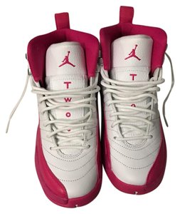 Air Jordan pink and white and silver Athletic