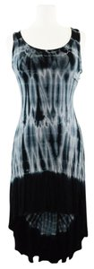 Culture Phit short dress Black/Gray/Multi Tie Dye High Low Soft on Tradesy