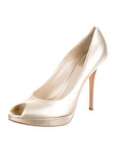 Dior Metallic High Heels Gold 9 Metallic Gold Pumps