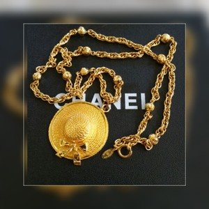 Chanel Chanel Gold Chain Logo Necklace