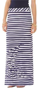 Lilly Pulitzer Maxi Skirt Navy/White Stripe
