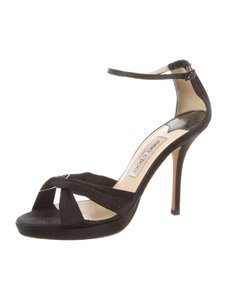 Jimmy Choo Satin Platform 9.5 Black Formal
