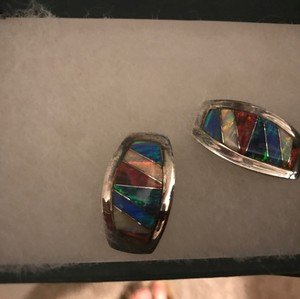 Worth the Weight Worth the Weight-Genuine Silver & Semi-Precious Stone Earrings-EUC
