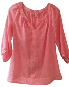 Lilly Pulitzer Top Pink/White Stripe